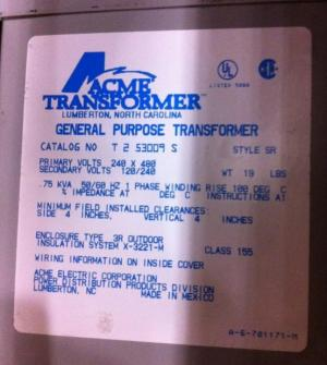 480 input 240120 output control transformer wiring mystery
