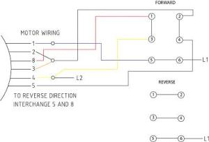 Wiring drum switch to reverse single phase motor