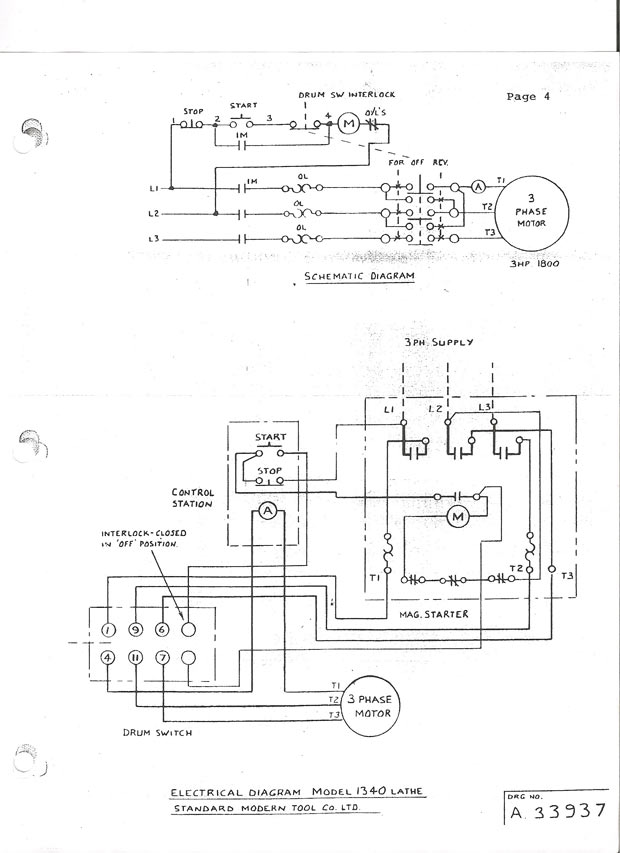Square D Reversing Contactor Wiring - Wiring Diagram