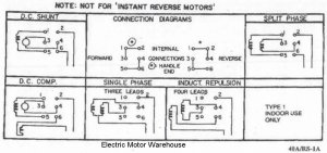 Help wiring a single phase motor with reversing switch for