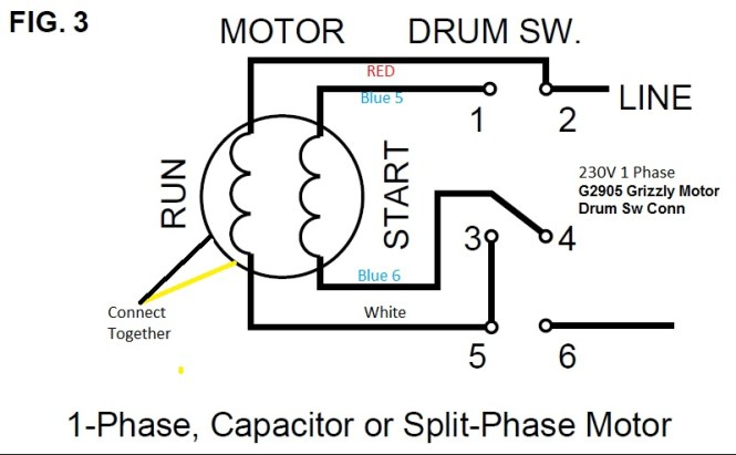 wiring diagram reversing single phase motor wiring diagram how to wire a baldor l3514 6 pole drum switch single phase wiring diagram for single phase ac motor the source