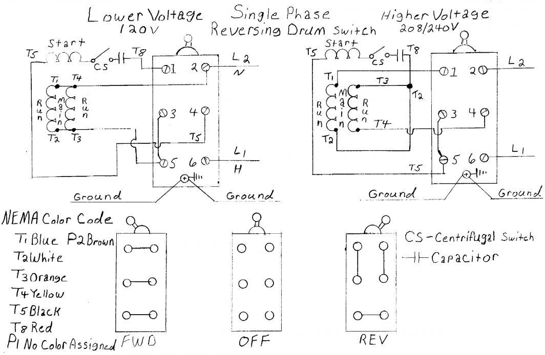 147097d1439491957 wiring help needed baldor 5 hp cutler hammer drum switch single phase drum sw?resize=665%2C434 diagrams 651878 baldor motor wiring diagrams 3 phase wiring Drum Switch Single Phase Motor Wiring Diagram at gsmportal.co