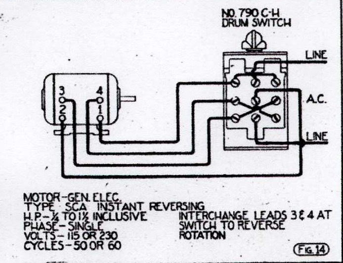 ge single phase motor wiring diagrams