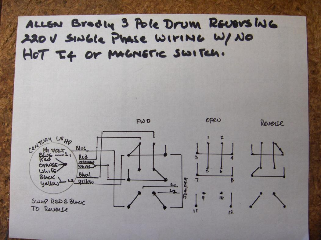 Cutler Hammer Drum Switch Wiring Diagram 40 Images Starter 163689d1455973897 How Do I Wire Up My 220v Single Phase Hpim3889resize Reversing