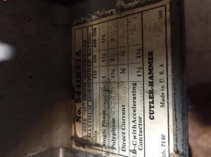 Cutler Hammer Wiring to SB 12 Motor