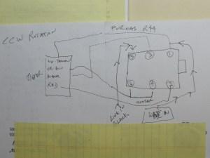 Wiring my Reversable switch problem