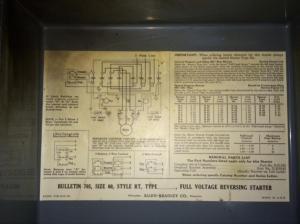 FS  Allen Bradley Reversing Motor Starter 705 Size 00