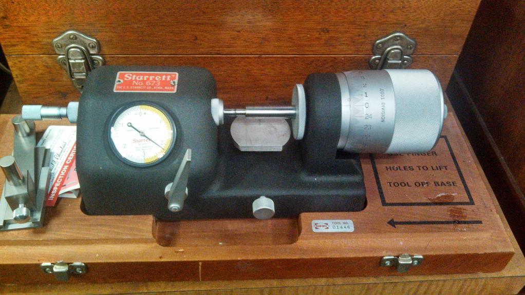 F S Starrett 673 Bench Micrometer