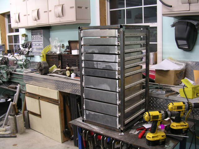 Anyone Ever Fabricate Their Own Roll Cab Slant Front Rolling Tool Cabinet With Removable Chest