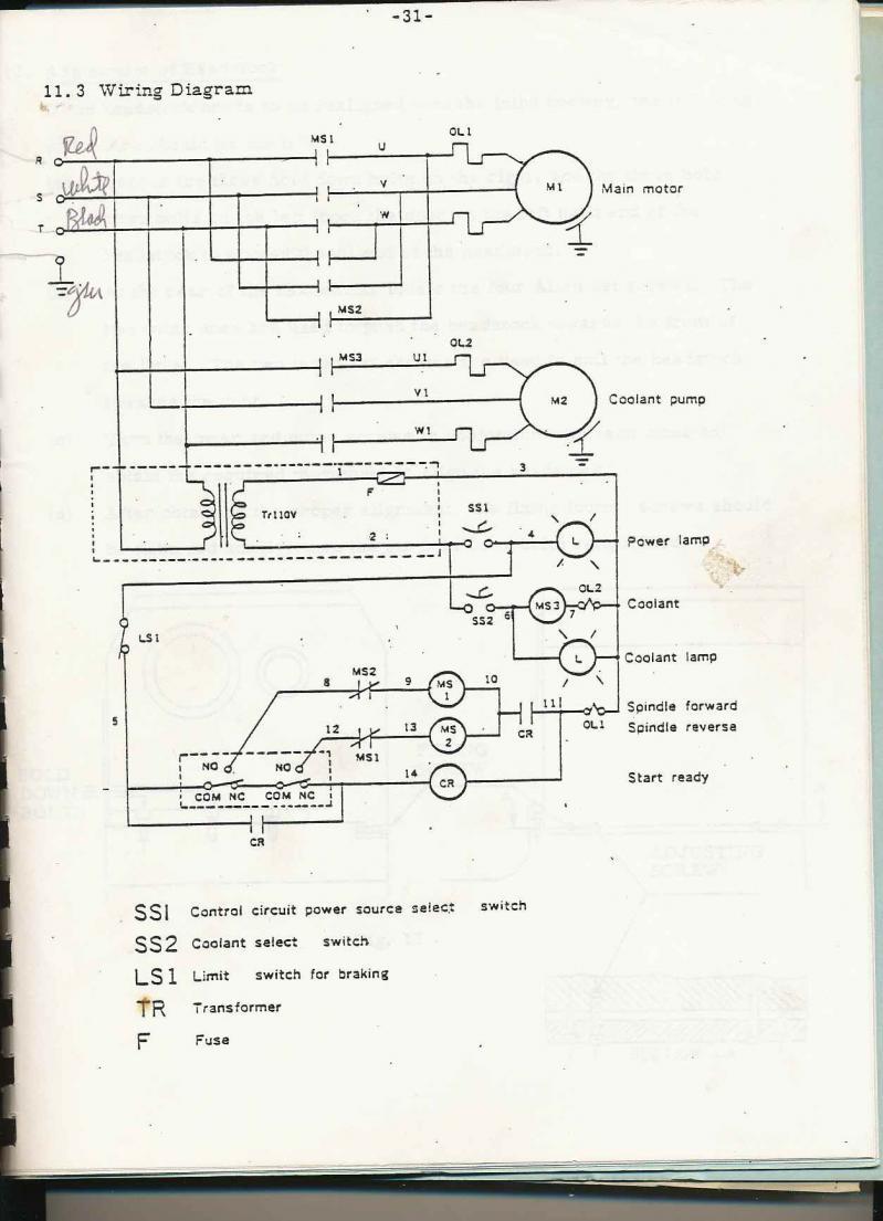 Leblond Lathe Schematic Wiring