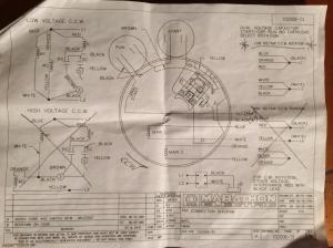 Wiring rotary cam switch