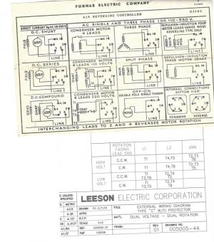 I need help Wiring Leeson Motor to Furnas switch