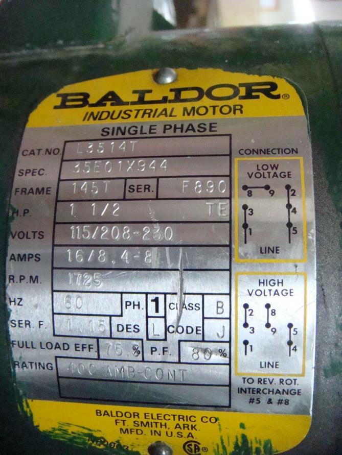 baldor single phase motor wiring diagrams  3 4 liter gm