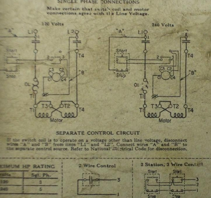 Dewalt Model Ge 16 Single Phase Saw Requires Three Wires