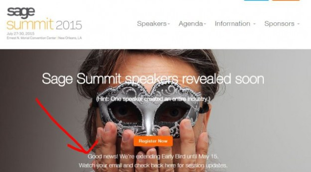 Sage Summit Early Bird extension