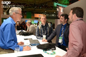 """The """"Genius Bar"""" concept is already in practice at Sage Summit for other topics. For example, the folks from Jolly Farmer Products (our customers! woo!) were spotted looking for more information about Sage X3 last year at Sage Summit."""