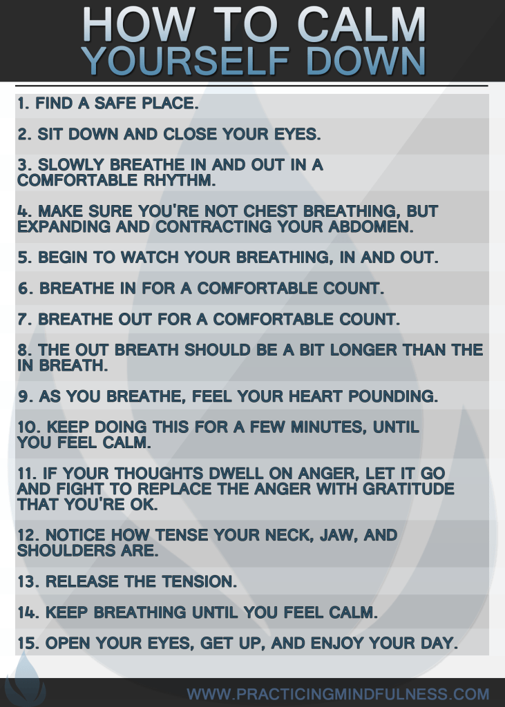 How to calm yourself down