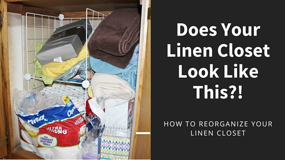 Does your linen closet look like this? How to reorganize your linen closet.