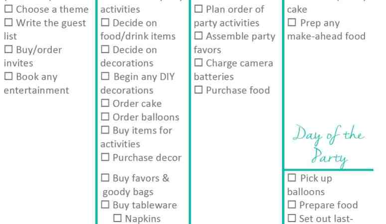 Kid Birthday Party Planning