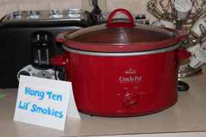hang ten lil' smokies in a crock pot