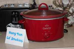 hang ten lil' smokies in a crock pot