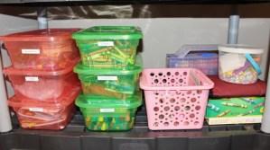 Craft bins to separate supplies