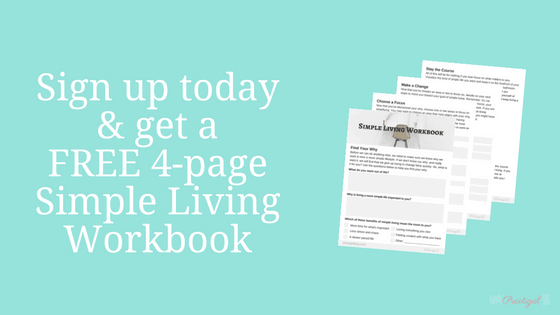 Sign up today and get a FREE 4-page Simple Living Workbook designed to help you jumpstart your simple life!