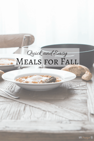 You can feed your family healthy meals every day this fall without getting overwhelmed by planning and preparing quick and easy meals. ~Practigal Blog