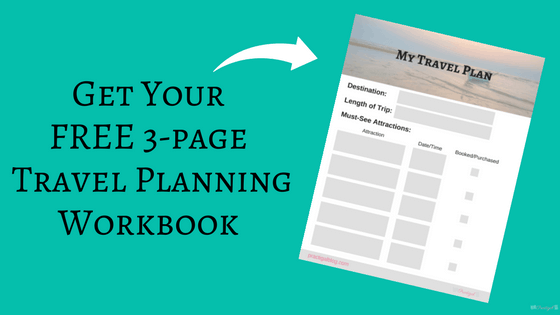 FREE 3-page travel planning workbook! Use this workbook to plan your next trip or vacation. List everything you must-see, must-do, and must-eat on your next trip. Check them off when they are booked or purchased, and record the date and time of each adventure! Intentional Travel Planning ~Practigal Blog