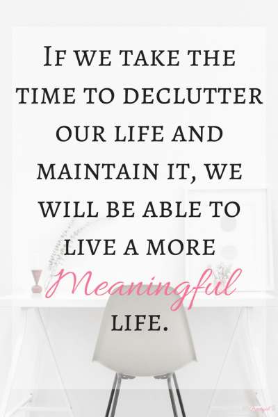 If you want to live a free, simple, and (mostly) stress-free life, you need to declutteryourhome. Owning too much can keep you from the life you want! ~Practigal Blog