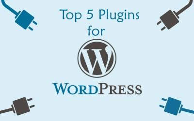 Top 5 Plugins for WrdPress