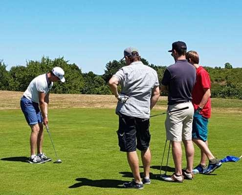 Golfclub Praforst Beginner Scramble ein letztes Mal noch konzentrieren