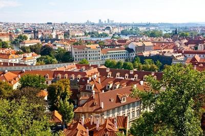 Prag Luftaufnahme
