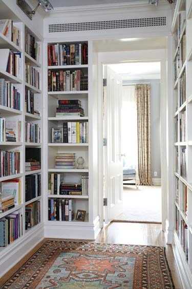 hallway home library