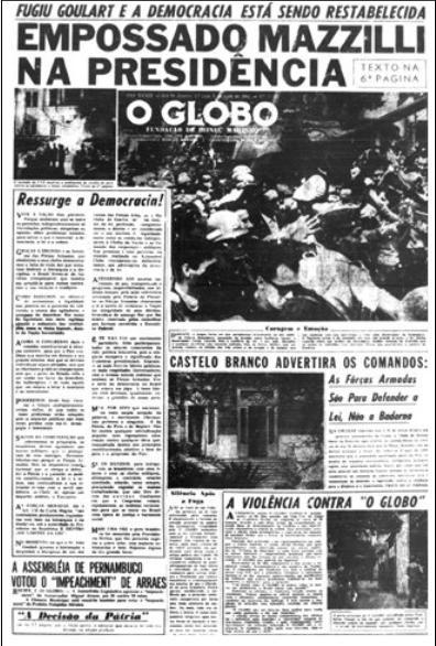 editorial globo ditadura militar