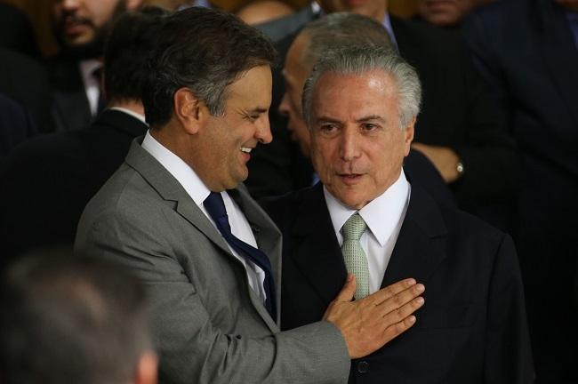 Resultado de imagem para Aécio Neves e Michel Temer