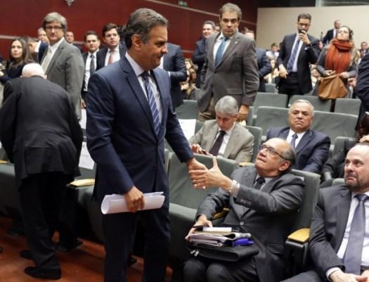 Gilmar Mendes Aécio Neves dpoimento