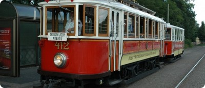Historic tram in Prague