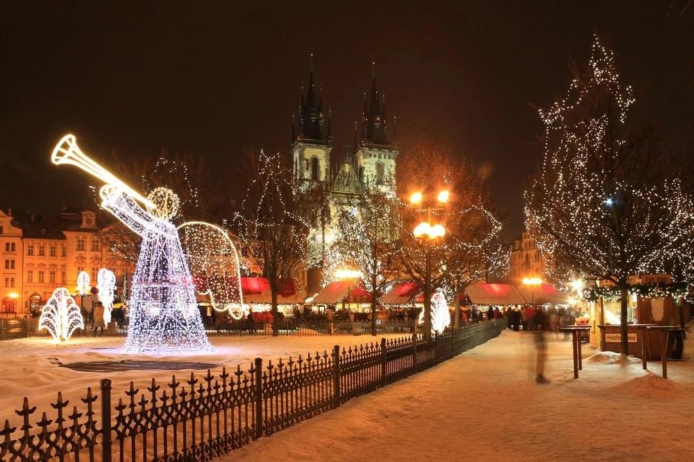 Praha er en vakker by før jul