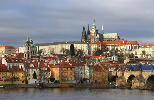 Prague during winter
