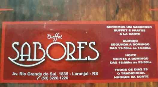 Buffet sabores