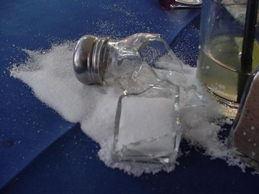 Image result for broken salt shaker