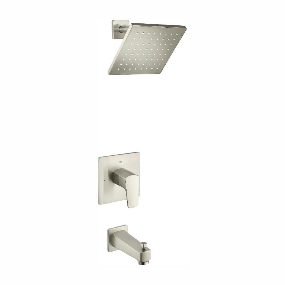 grohe tallinn 35097en0 single handle 1 spray bathtub and shower faucet in brushed nickel valve included