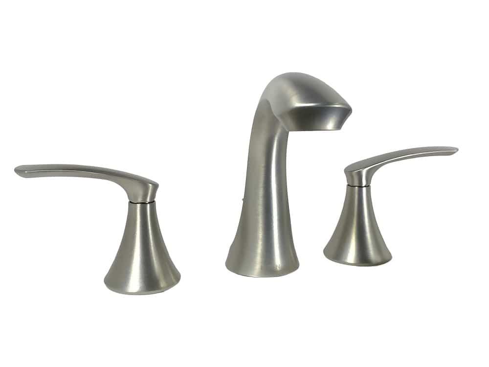moen darcy ws84551srn 8 in widespread 2 handle high arc bathroom faucet in spot resist brushed nickel