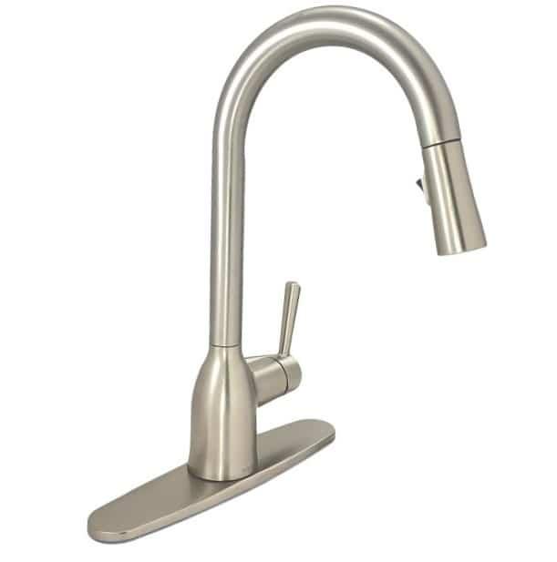 moen adler 87233srs one handle pull down faucet in spot resist stainless