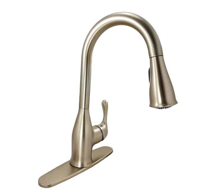 moen kaden 87966srs single handle pull down sprayer faucet spot resist stainless