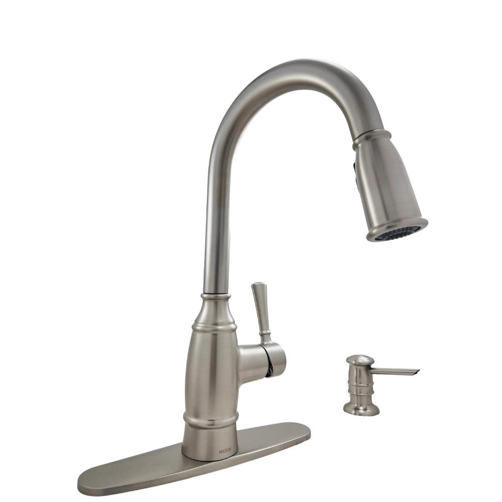 moen noell 87791srs 1 handle pull down sprayer kitchen faucet reflex spot resist stainless