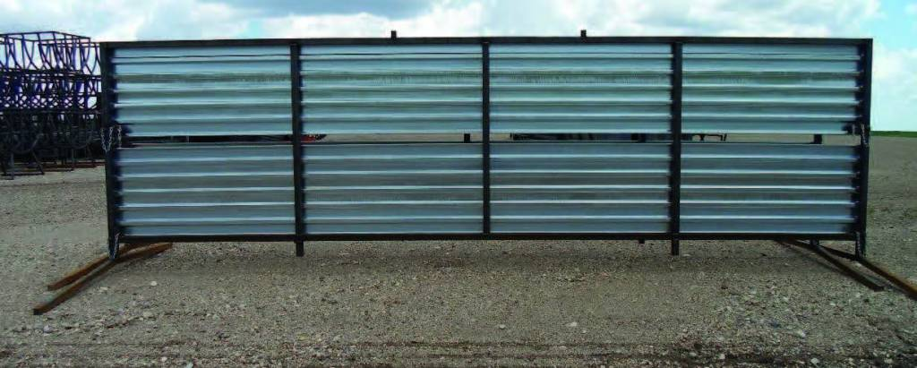 8 ft x 24 half ft portable windbreak back