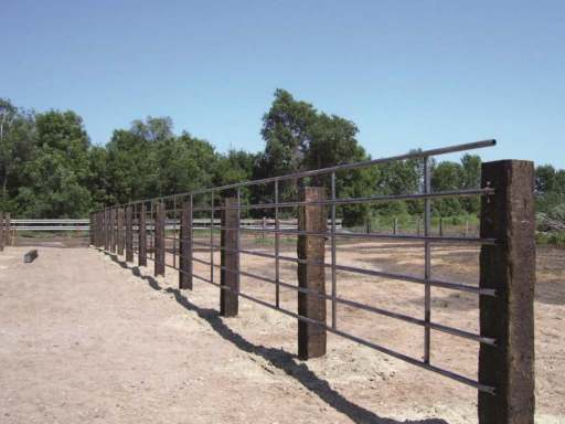 6-bar 20 ft continuous livestock fence panel