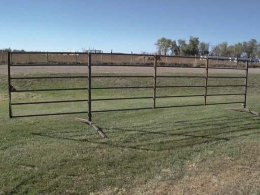 6-bar 20 ft freestanding livestock panel